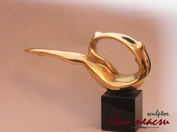 Sculpturi in bronz - Balansoarul copilariei